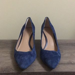 J.Crew Blue Suede Pumps